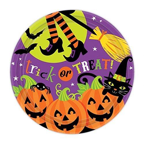 Amscan Halloween Trick oder Behandlung Papier Platten 8Pk