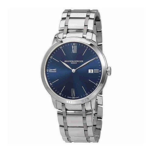 Baume et Mercier Classima Cadran bleu montre pour homme Moa10382