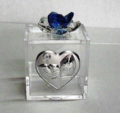 Bomboniere scatoline per cresima (blu)