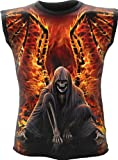 Spiral - Men - FLAMING DEATH - Allover Sleeveless T-Shirt Black