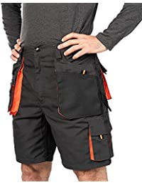 Verano Pantalones Cortos de Trabajo para Hombre, Multibolsillos, Bermudas de Trabajo, Tamaño S - 3XL, Corto de Trabajo, Cargo Shorts, Resistente Ropa de Trabajo