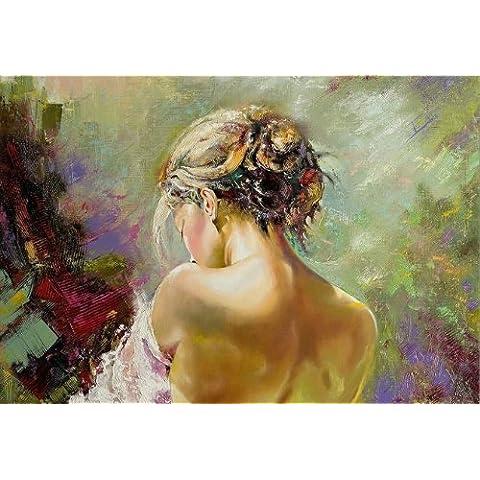 Quadro su tela, Donna sexy Spalla, Startonight 60 cm x 90 cm cm I quadri sono montati su telai di vero legno. Stampa artistica intelaiata e pronta da appendere