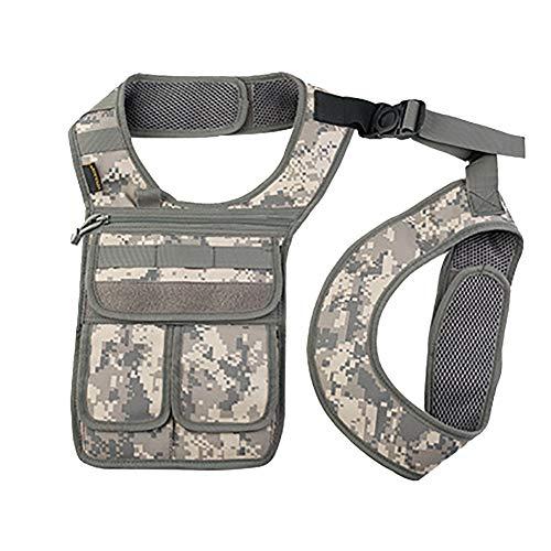 QEES GJB436 Unterarm-Holster für Herren, Diebstahlschutz, linke Schultertasche, versteckte Schultertasche, Mehrzweck-tragbare Sicherheitstasche für Reisen/Outdoor, Camo 1 - Größe: Einheitsgröße