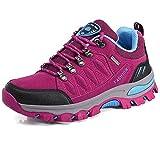 BOLOG Zapatos de Senderismo para Hombre Zapatos de Low Rise Trekking Ocio al Aire Libre y Deportes Zapatillas de Running Trekking de Escalada Zapatos de Montaña Mujer,Rosado,EU36
