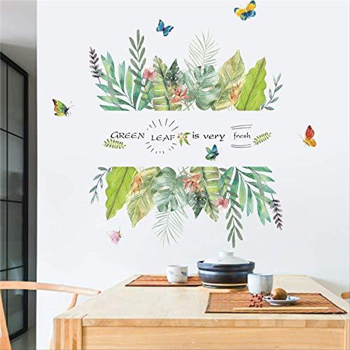 ze Schmetterling Wand Aufkleber Home Decor Wohnzimmer TV Hintergrund 50 * 70cm Wand Decals PVC Wandbild Kunst DIY Poster ()