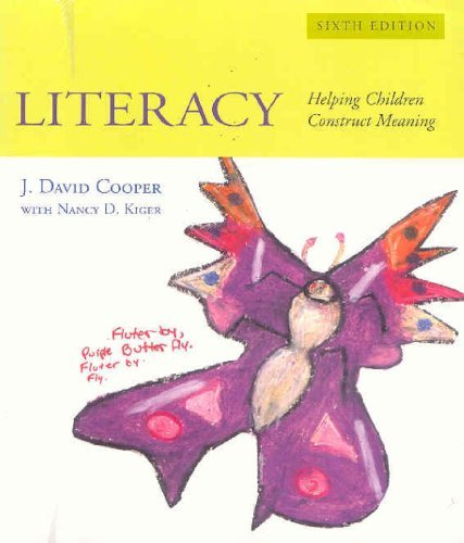 Literacy: Helping Children Construct Meaning [With Teaching Guide] by J. David Cooper (2006-05-01)