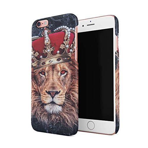 Oro Chains Lion King Cash Billionaire Luxury High Life Swag Dope Trill Custodia Posteriore Sottile In Plastica Rigida Cover Per iPhone 7 Plus & iPhone 8 Plus Slim Fit Hard Case Cover Lion King