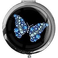 """metALUm - Extragroße Pillendose in runder Form""""Schmetterling"""" preisvergleich bei billige-tabletten.eu"""