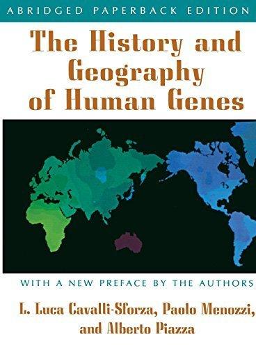 The History and Geography of Human Genes Abridged edition by Cavalli-Sforza, Luigi Luca, Menozzi, Paolo, Piazza, Alberto (1996) Paperback