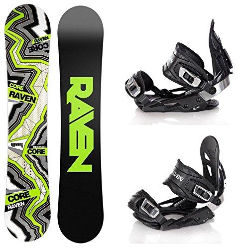 Snowboard Set: Snowboard Raven Core Carbon Rocker + Bindung Raven s400 Black M/L