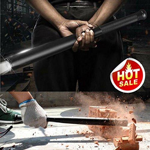 Baseballschläger Handlampe LED Taschenlampe, Siswong Multifunktional 31/36/41/49CM Taktstock Professionell Taktik Jagd Lampe Notfallhammer im Freien Flashlight (49cm Lang)