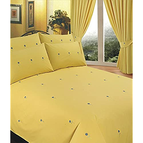 pillow cotton ac amazon yellow com pieces king size sets cover duvet set s home susybao kitchen duvets covers bedding
