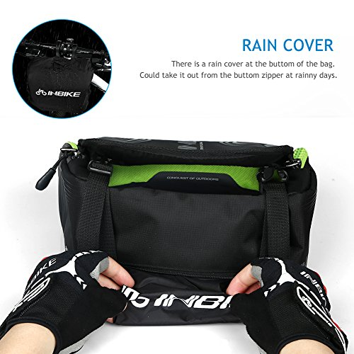 Inbike Wasserdicht Fahrrad Lenker Tasche & Schultertasche vorn Fahrradtasche Grün