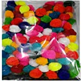 Goelx Am Pom Pom Multicolor Balls For Crafts,Decorations,Jewellery Making,Accessories,Bags Pack Of 50 Multicolor Balls 2Cm