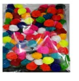 Am Pom Pom Multicolor Balls For Crafts,Decorations,Jewellery Making,Accessories,Bags Pack Of 50 Multicolor Balls 2Cm
