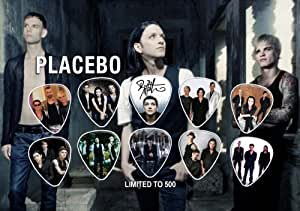 Placebo Signed Autograph Guitar Médiator Display (Limited to 500 Prints)