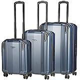 Koffer-direkt.de Cubase II 4-Rollen-Trolley Set 3-TLG dunkelblau