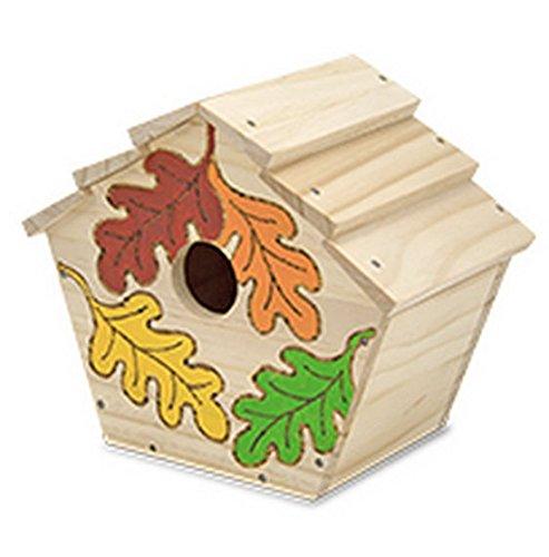 Salut Maman Melissa & Doug- BAU Dein eigenes Vogelhaus Vogelhäuschen, 33 x19cm, Mehrfarbig
