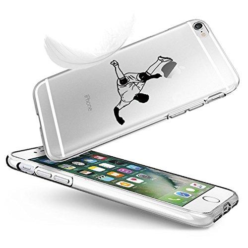 "Vanki® Coque iPhone 6 Plus/6S Plus, TPU Souple Etui de Protection Silicone Case Soft Gel Cover Anti Rayure Anti Choc pour Iphone6 Plus/6S Plus 5.5"" Football"