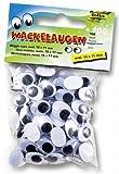 Folia 751511 - Wackelaugen mit beweglicher Pupille, 100 Stück, 15 x 11 mm
