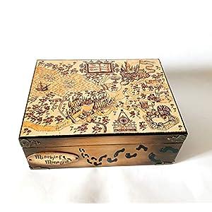Exklusive Schatulle Harry Potter Karte des Rumtreibers, Mischief Managedbox, schachteln, wood, für schmuck,Holzkästchen, Jewelry Box, Kästchen, Handarbeit.