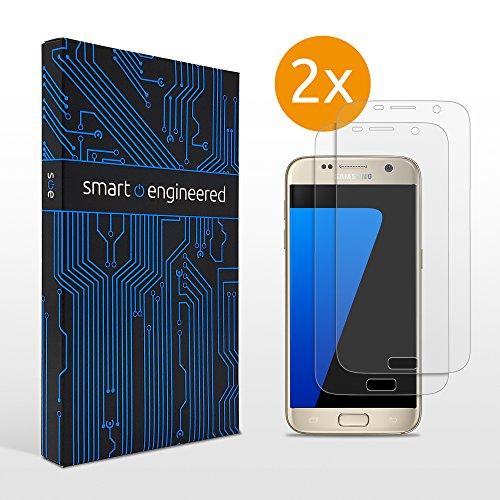 [2 Stück] 3D Schutzfolien matt kompatibel mit Samsung Galaxy S7 - [Made in Germany - TÜV] - Hüllenfre&lich - Transparent - Selbstheilend - kein Glas oder Panzerglas sondern Panzerfolie TPU