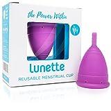 Lunette Menstruationstasse Cynthia - lila - Modell 2: Für normale bis starke Blutung - Ganz ohne Fadenspiel