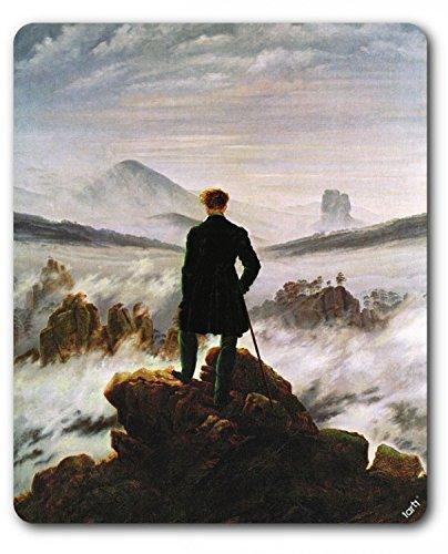 1art1 88725 Caspar David Friedrich - Der Wanderer Im Nebelmeer, 1818 Mauspad 23 x 19 cm