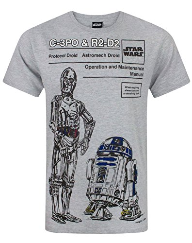 Star Wars C-3PO and R2-D2 Men's T-Shirt (L)
