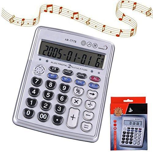 Egoelife Musical Escritorio calculadora dígitos Pantalla