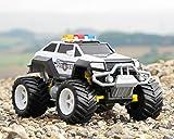 Diawell RC ferngesteuertes Polizei Auto Polizeiauto Truck mit Akku und Ladegeräte Vollfederung Warnlicht Test