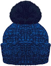 ROCKJOCK Ladies Marl Chunky Knit Bobble Hat with fleece Thinsulate lining