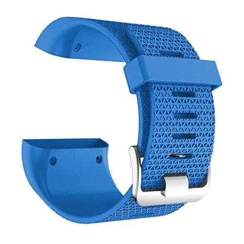 komise Weich Ersatz-Armband Uhrenarmband Verschluss Schnalle für Fitbit Surge, Band Länge: 160–220mm Einheitsgröße himmelblau