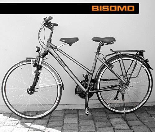 BISOMO Fahrrad Kindersitz-Set - DDR Zeiten - Vorn (Damen No.1 - Ø 22-35 mm, Gelber Smiley Sattel)