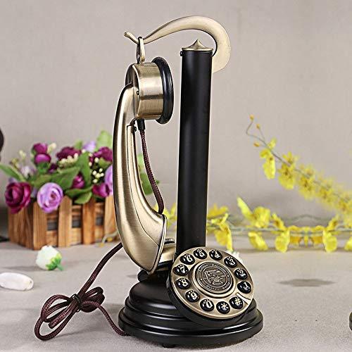 YYDIANZ Teléfono Fijo Retro Vintage Antiguo Candelabro