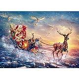 Felicove 5D Stickerei Gemälde, Weihnachten Bilder Strass DIY Diamant Malerei Kreuzstich eingefügt