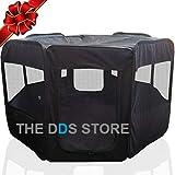 "The DDS Store 31"" Dia x 24H Zipper Sealed Bottom Dog Playpen, Portable"