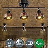 LED Strahler Spotlight Retro Industrie Wand Spot Deckenstrahler Vintage Schwenkbar Deckenspot Einstellbare Flexible Wandlampe Deckenlampe Innen Lampe Beleuchtung Leuchte Wohnzimmer Schlafzimmer 4X 5W