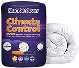Slumberdown - Piumino in policotone con funzione Climate Control, bianco, Singolo