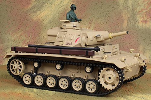 1/16 Scale TauchPanzer III Real RC Battle Tank r/c model German Panzer bb cannonball airsoft Nazi amromer military vehicle WWII World War II 2 two second battle Radio Remote Control TDAK by Heng Long (Rc Airsoft Tank)
