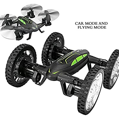 LeGow RC Flying Car Drone Remote Control One-key Return Headless Mode 180 Degree Tumbling Hovering Quadcopter RC Car
