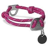 Ruffwear Seil-Halsband für Hunde, Große bis sehr große Hunderassen, Größenverstellbar, Reflektorstreifen, Größe: L (51-66 cm), Violett (Purple Dusk), Knot-a-Collar, 25601-560L