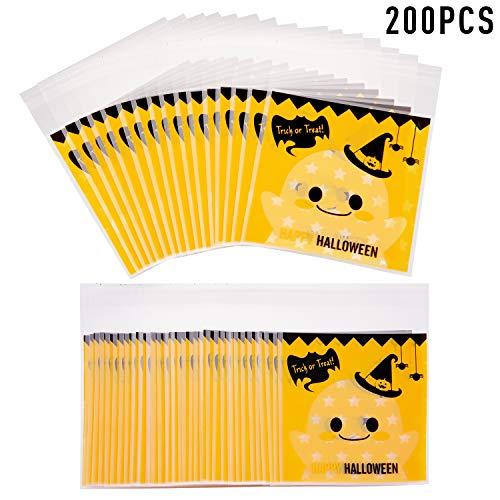 Hausgemachte Halloween Behandeln Tasche - Boao 200 Stücke Halloween Kunststoff Süßigkeit