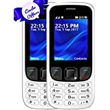 I KALL K6303 Dual Sim 2.4 Inch Display COMBO OF TWO Basic Mobile Feature Phone With 1800 Mah Battery Capacity, Bluetooth, GPRS, Flash Light, FM- White & White