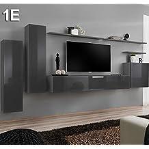 Lettiemobili – Mobile componibile Berit grigio Modello 1 E