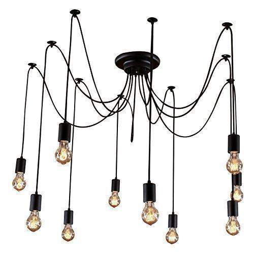 LightInTheBox® Vintage style Edison Industrial Lights Retro Cafe Bar bricolage Pendentif plafonniers 10 Lumières