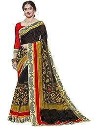 Ishin Art Silk Black Printed With Lace Party Wear Wedding Wear Casual Wear Festive Wear New Collection Latest...