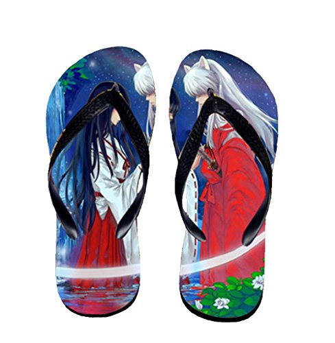 Bromeo Inuyasha Anime Unisex Flip Flops Zehentrenner Flip Pantoffeln 610