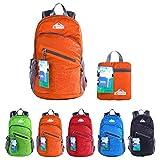EGOGO Multifunzione 25L Zaino Trekking Pieghevole Peso Leggero Daypack Per Sportivo Outdoor Campeggio Alpinismo Arrampicata Viaggi S2212 (Arancione)