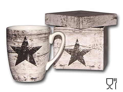 Bambelaa! Geschenkidee Design Geschenk Set Tasse Kaffeebecher in Geschenkbox Stern